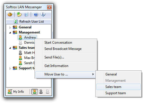 Business LAN messenger. Winpopup tool.