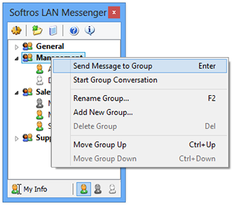 Group mass message window